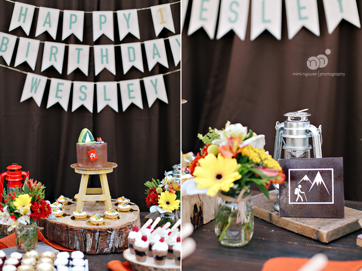 Wesleys 1st Camping Themed Birthday Party Orange County Mimi