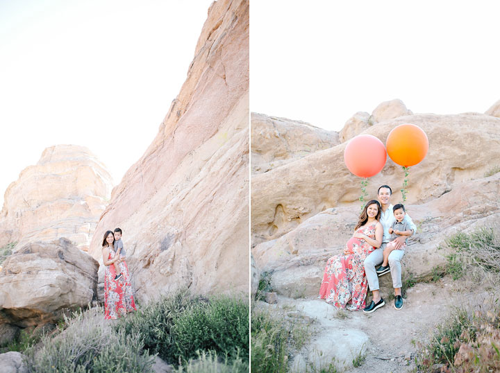 Vasquez Rocks Maternity Family Session Photos
