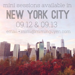 NYC Fall Holiday Mini Sessions 2015